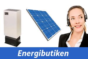Solenergi, Solceller, dieselkaminer, batterier